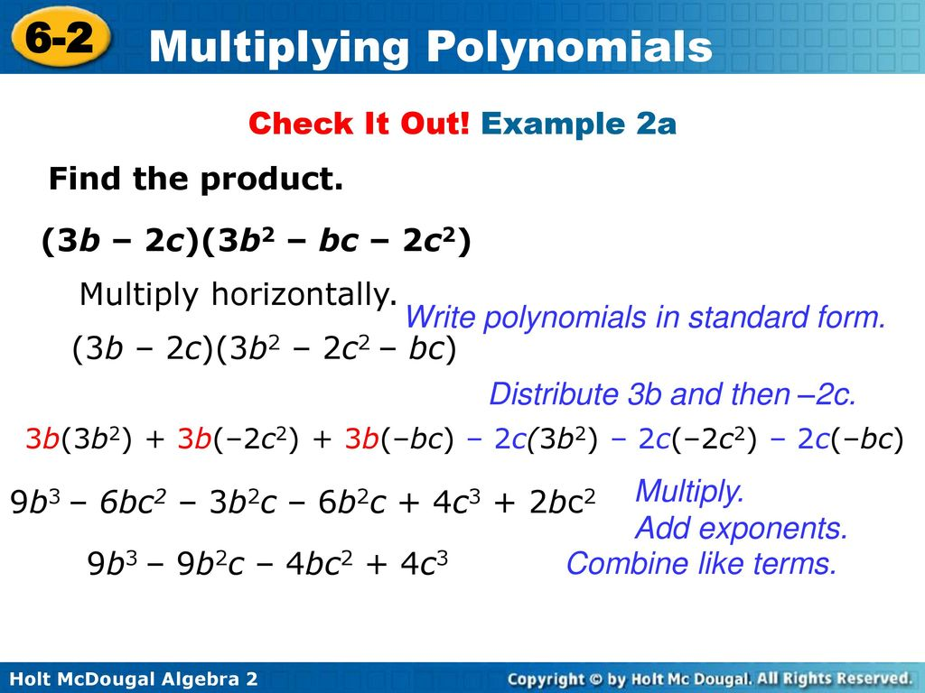 Multiplying polynomials ppt download write polynomials in standard form falaconquin