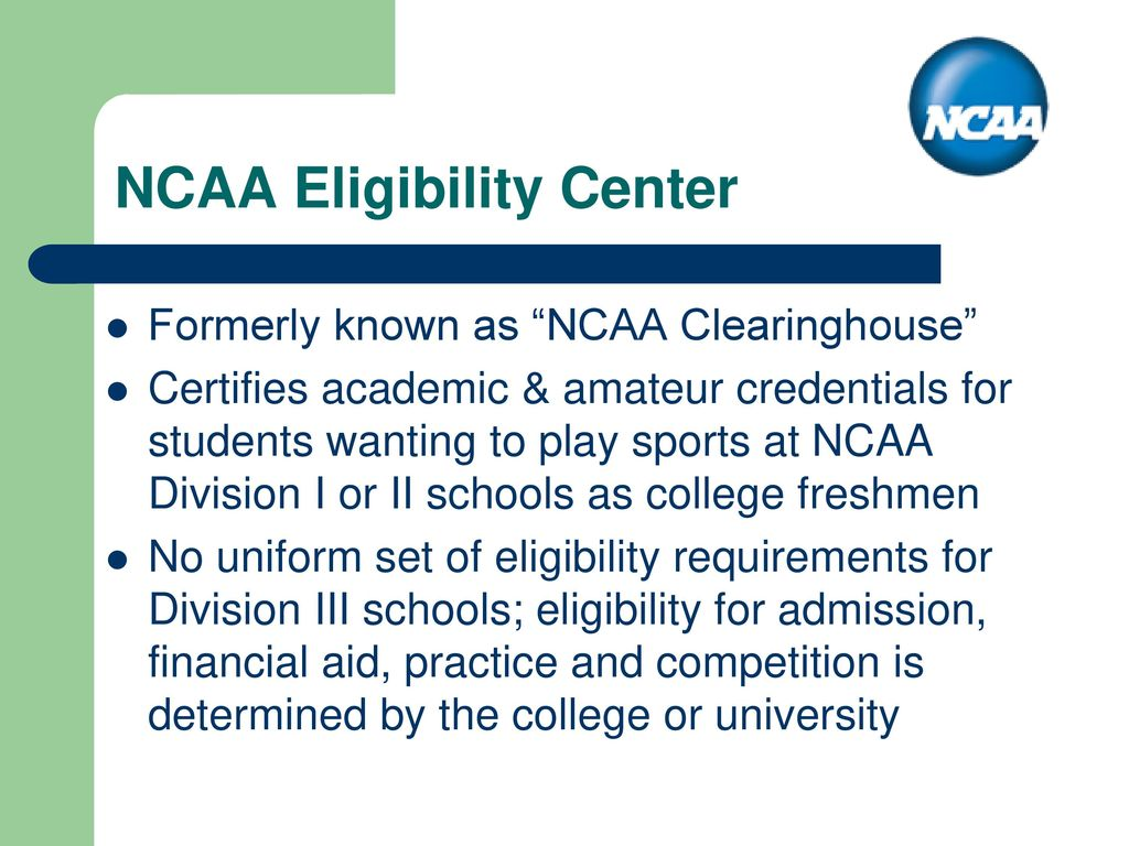 a report on college athletes and the ncaas requirements Ncaa eligibility is tracked by the director of academic services for all student-athletes requirements for student-athletes athlete must report.