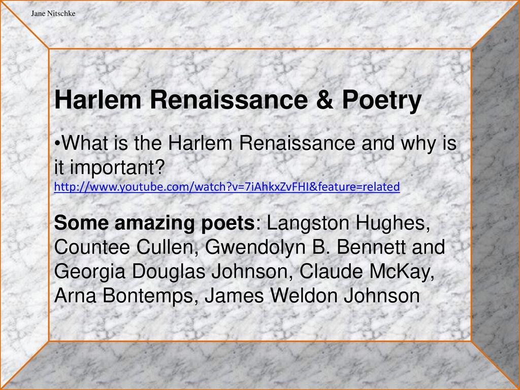 the use of african american cultural background in the poetry of langston hughes and countee cullen Baltimoreans who know the poetry of african american poet countee cullen born countee porter in 1903, cullen was raised by to poets like langston hughes.