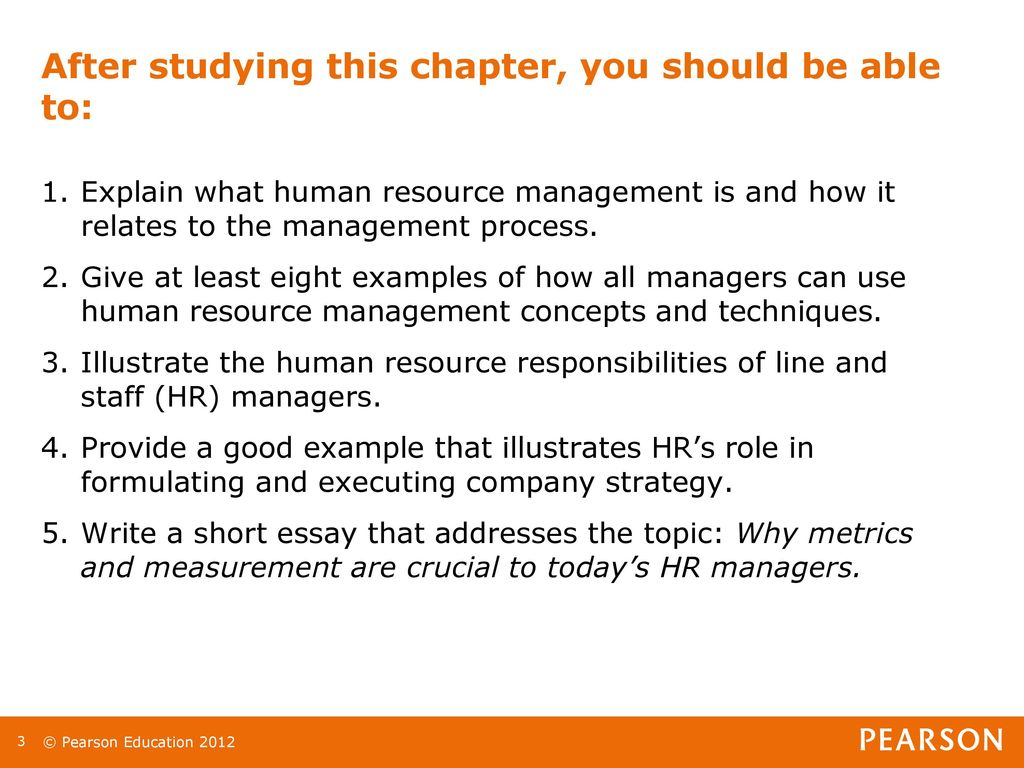 how human resource management concepts and techniques can be of use to all managers Explain what hr management is and how it relates to the management process give examples of how hr management concepts and techniques can be of use to all managers explain with examples each of the eight steps in the strategic management process.
