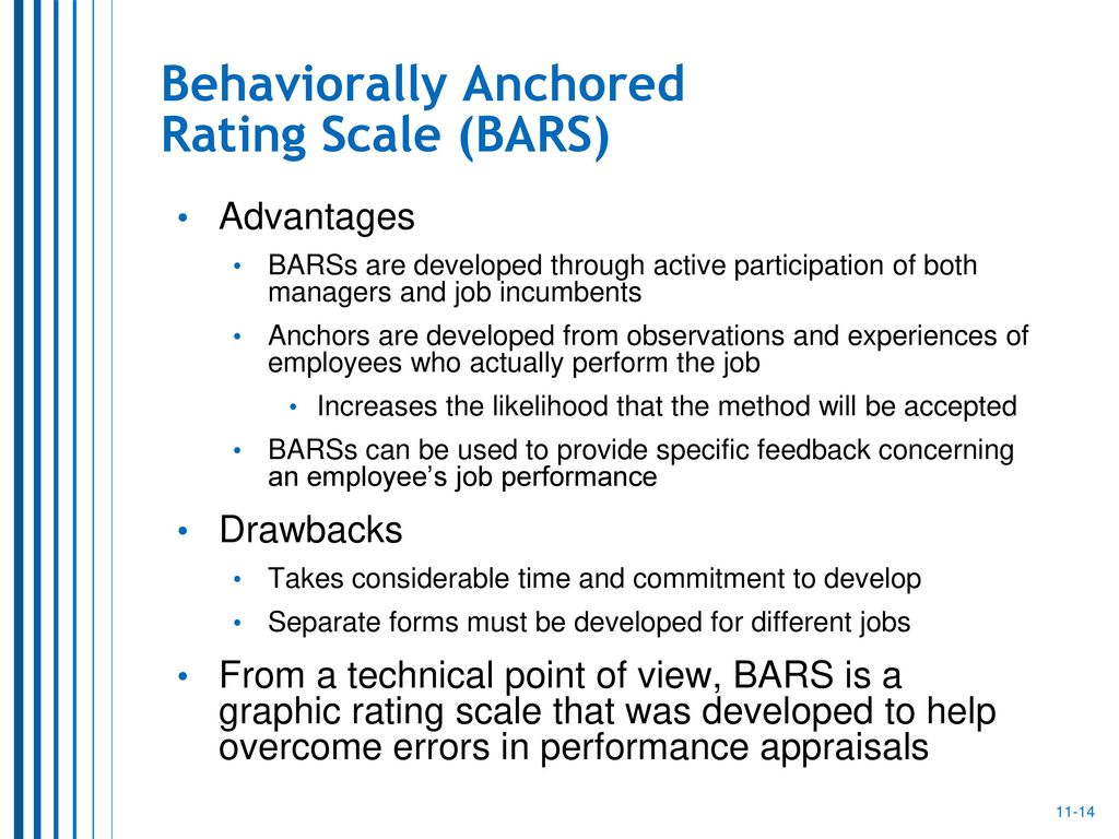 behavioral anchored rating scale essay This essay developing a performance appraisal and other 63,000+ term papers behaviorally anchored rating scales (bars), forces-distribution rankings.