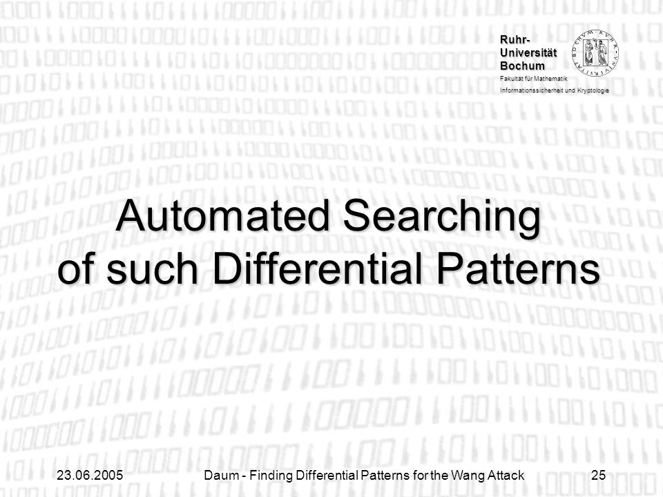 Automated Searching of such Differential Patterns