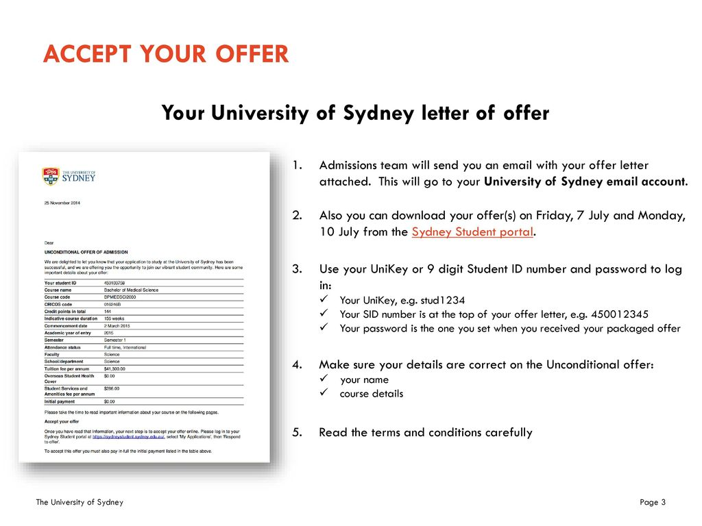 Accepting your University offer and enrolment ppt download