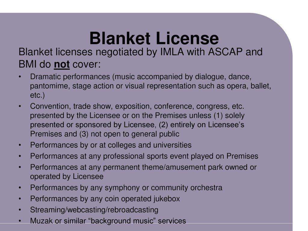 Ascap Bmi Sesac Blanket License 7500 Photo Blanket