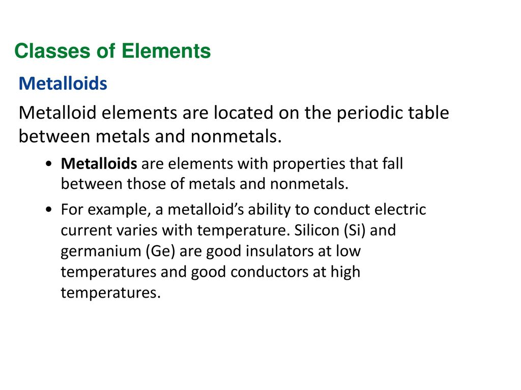 Eoct review physics ppt download 84 classes of elements metalloids gamestrikefo Image collections