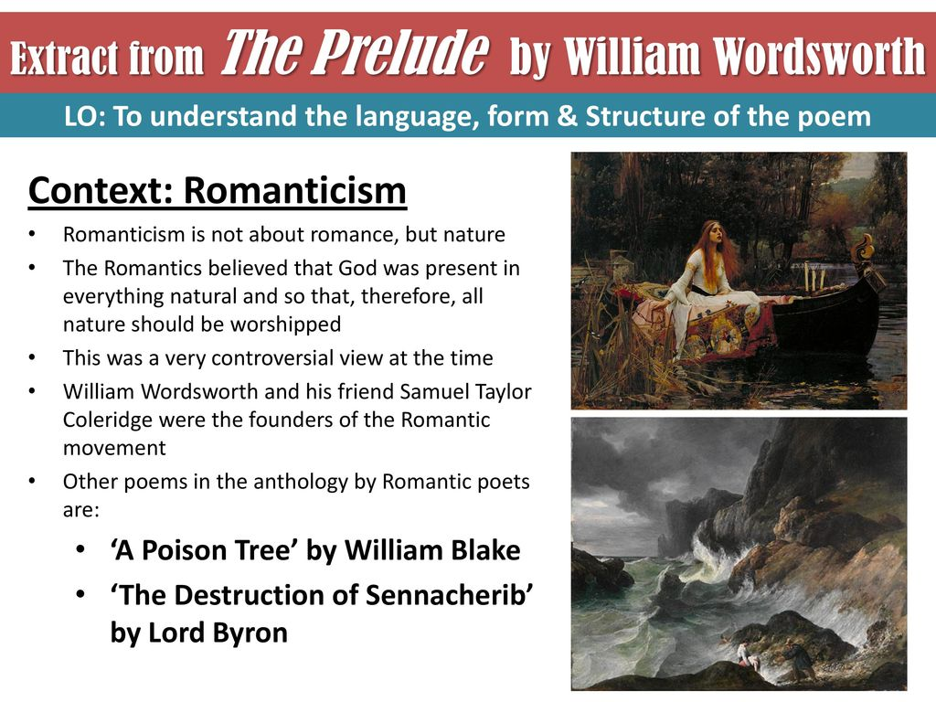 the romantic understanding of nature The concept of nature in william wordsworth's the tables turned - anne   in view of the economic and social changes of the romantic period, society was.