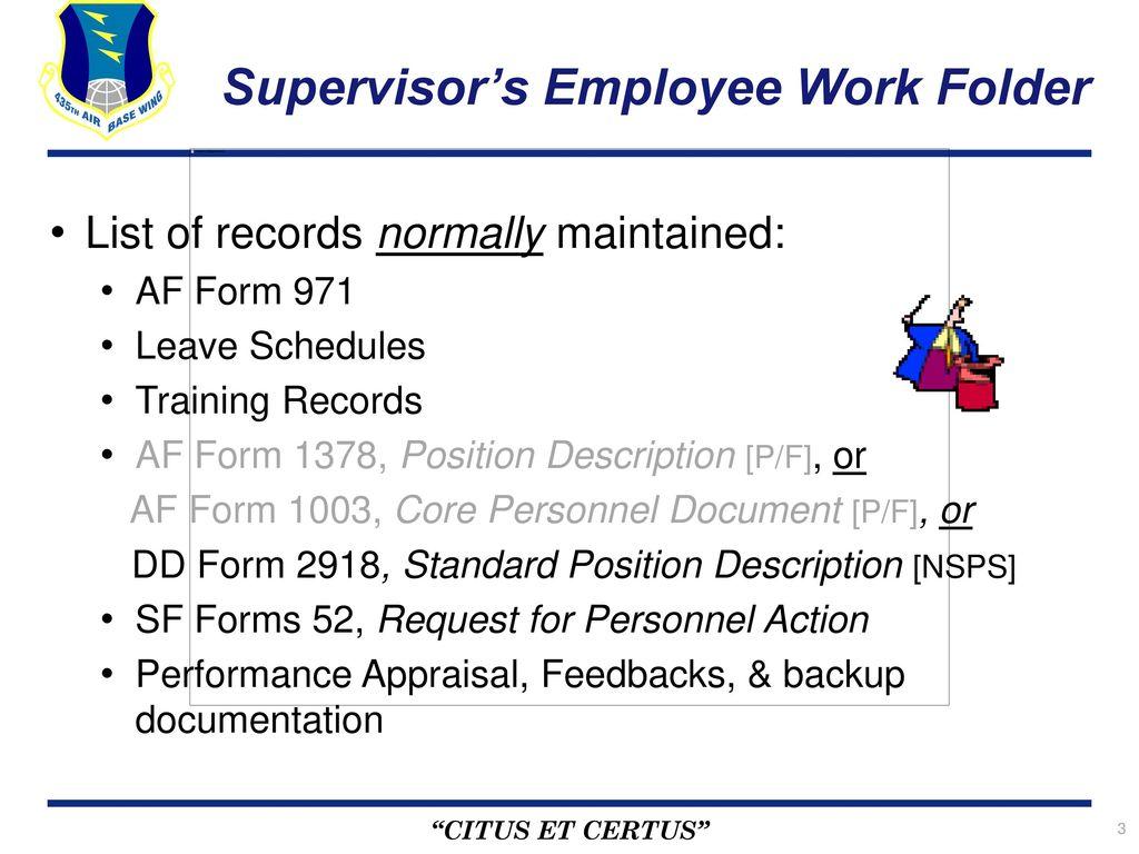 supervisor u2019s employee work folder