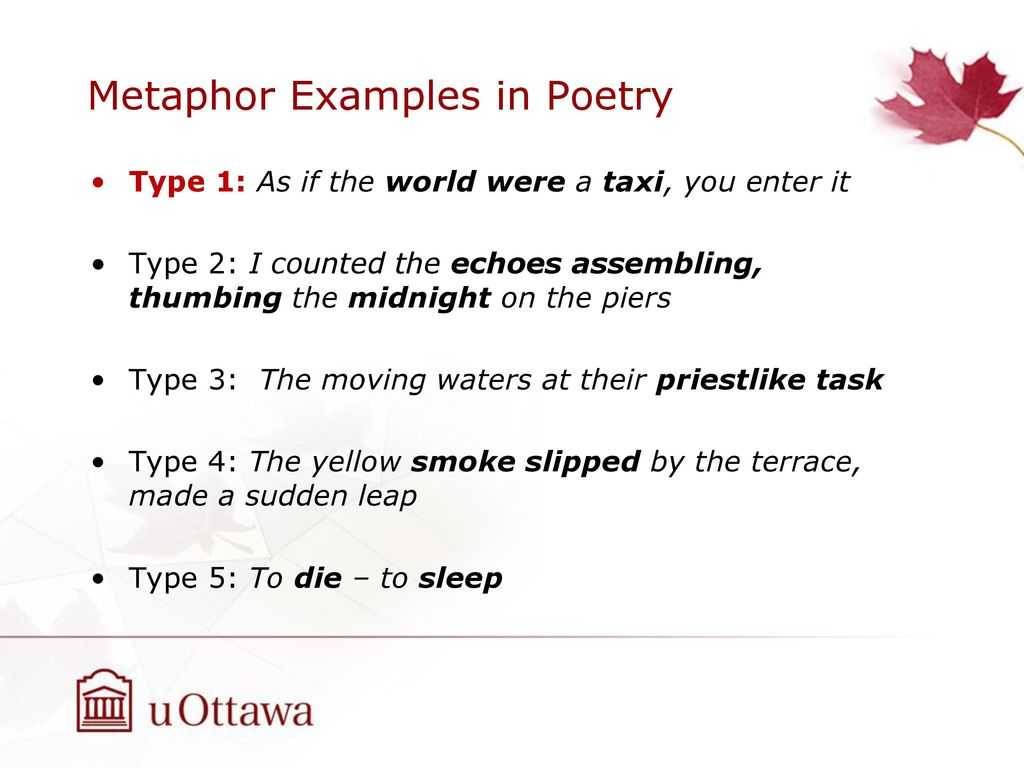 Metaphor Detection In A Poetry Corpus Ppt Download