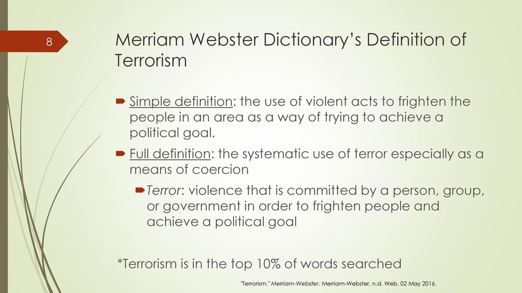 definition af terror