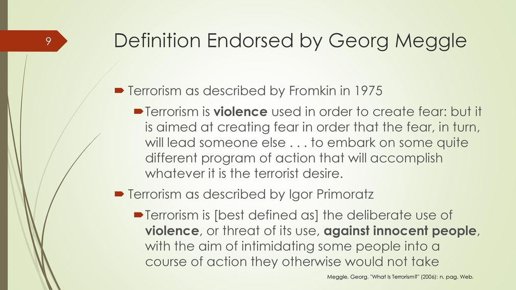 Definition Endorsed By Georg Meggle
