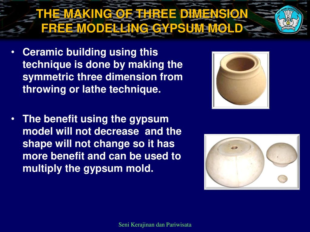 MAKING THE GYPSUM MOLD USING TWO-OR-MORE SIDE SLIP CASTING