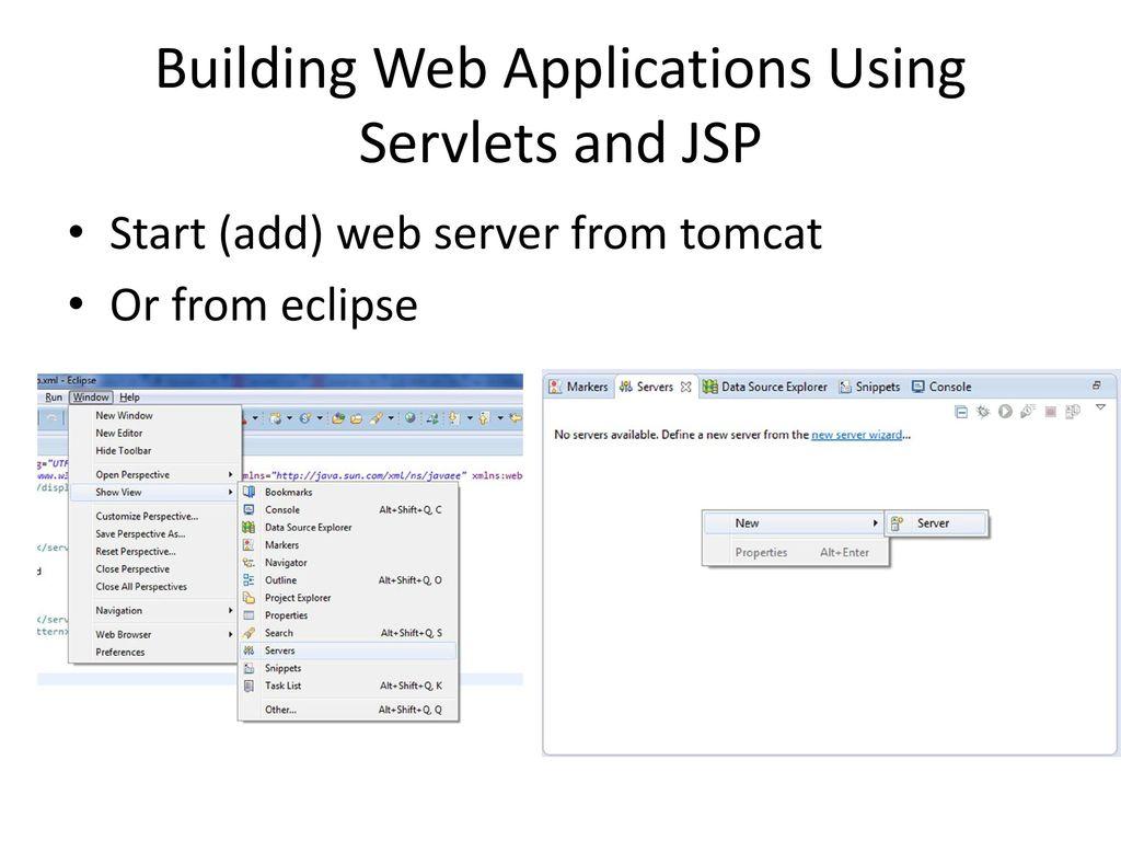 Java web programimi servlet and jsp demo ppt download building web applications using servlets and jsp baditri Gallery