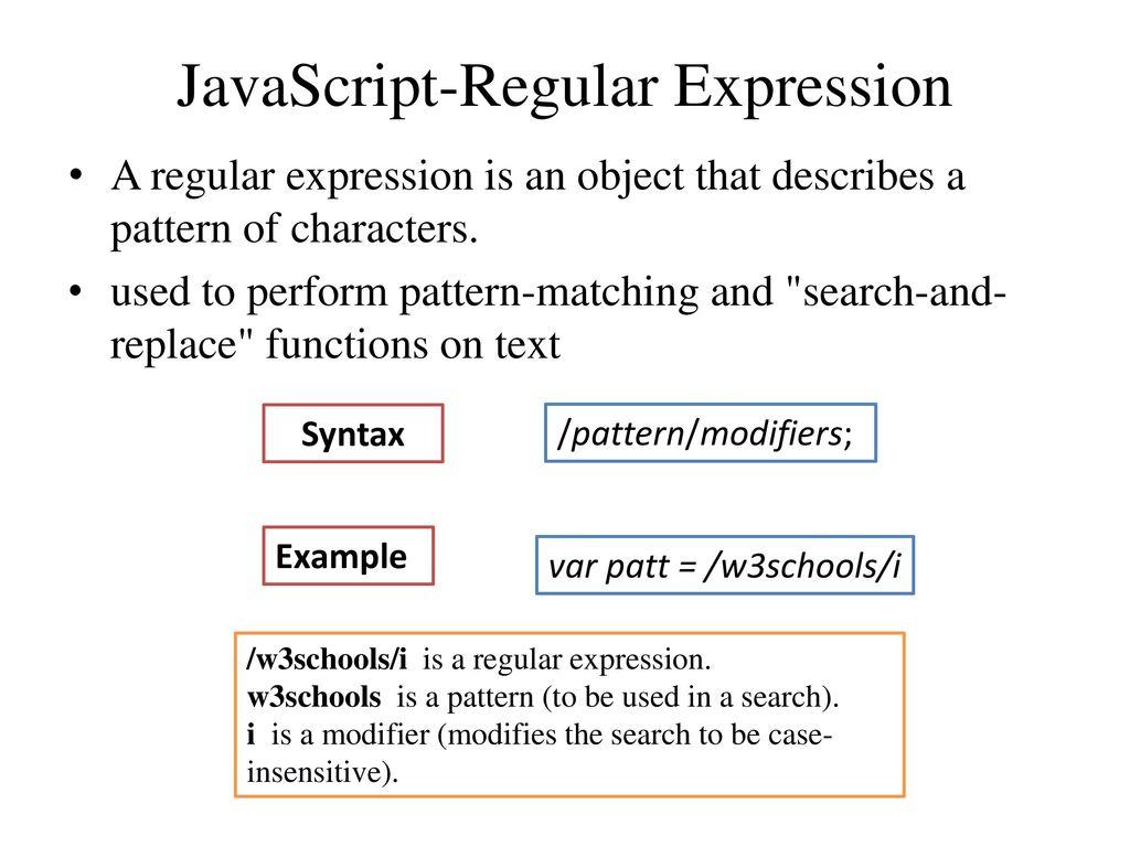 Java script date object ppt download 5 javascript regular expression baditri Image collections