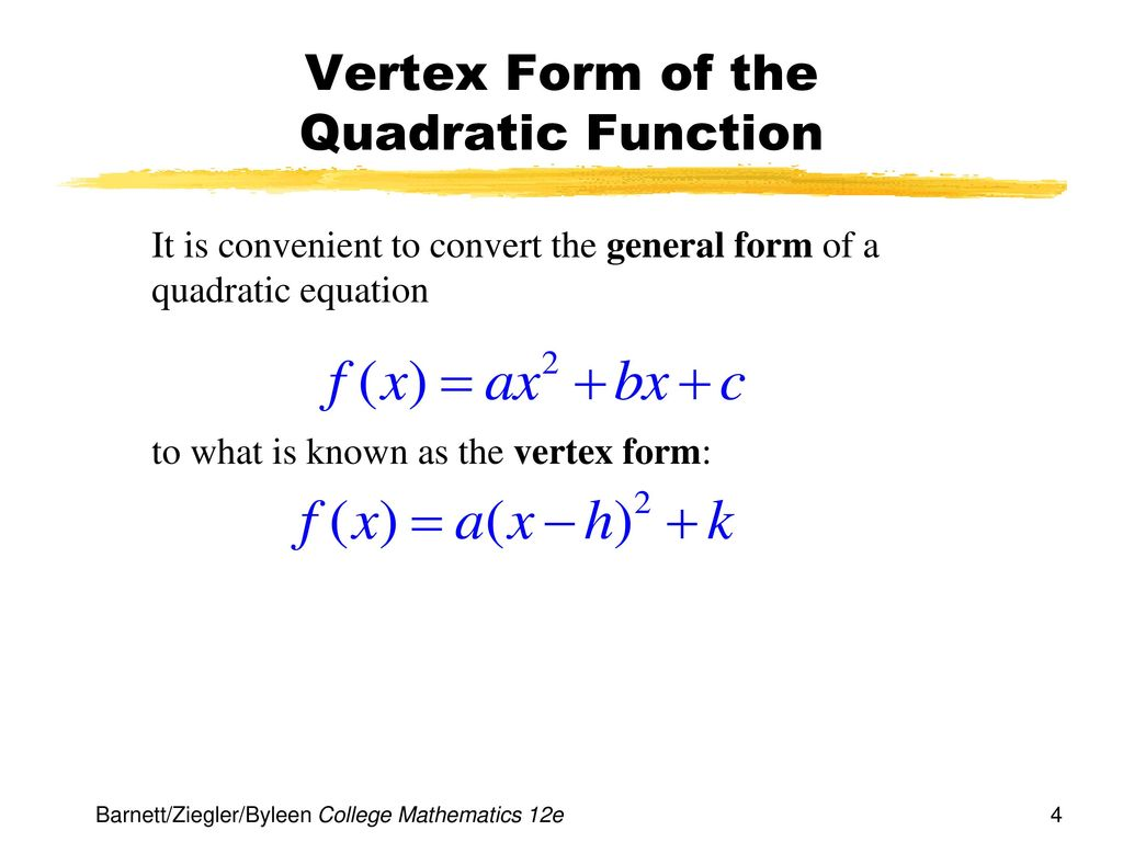 Chapter 2 functions and graphs ppt download vertex form of the quadratic function falaconquin