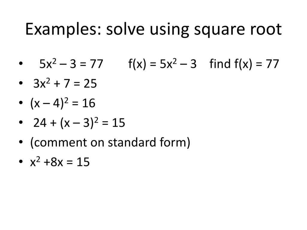 College algebra acostakarwowski ppt download examples solve using square root falaconquin