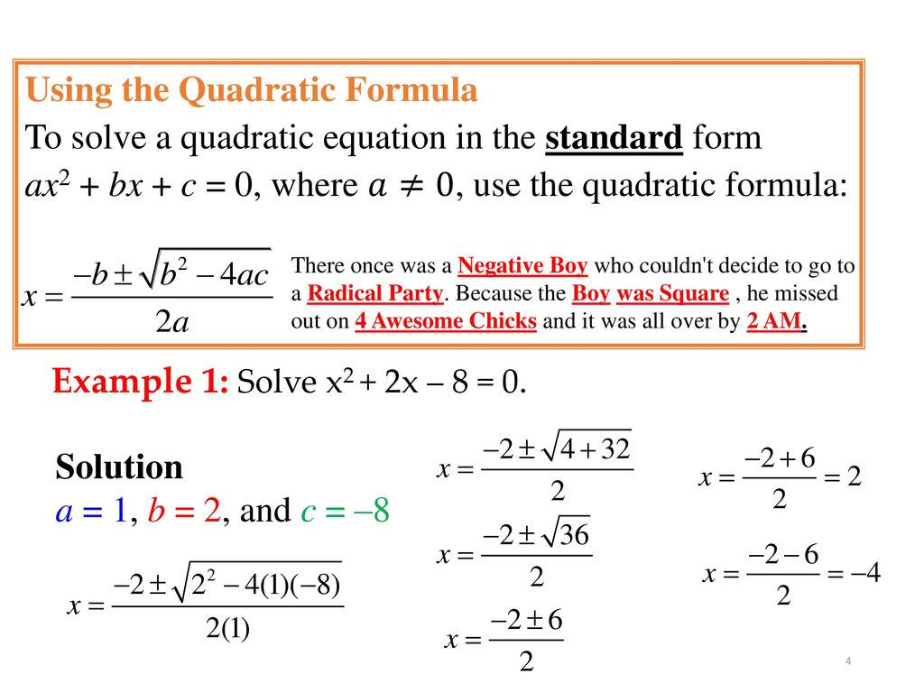 Chapter 8 quadratic functions ppt video online download using the quadratic formula falaconquin