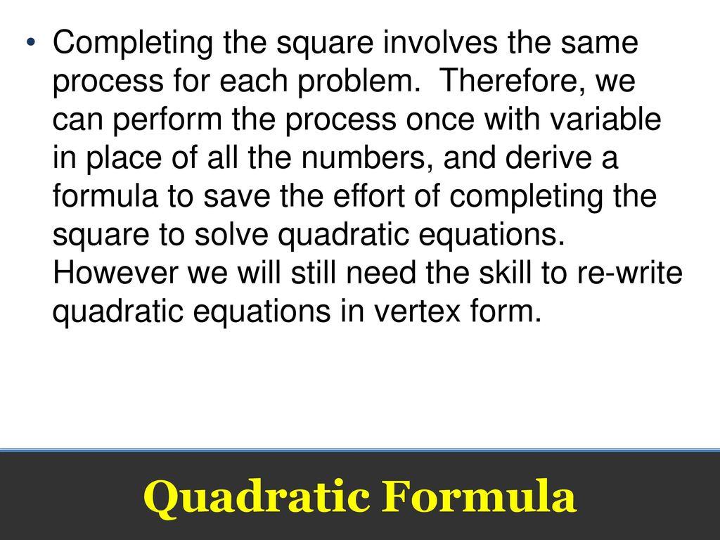 The quadratic formula quadratic formula ppt download 2 completing falaconquin