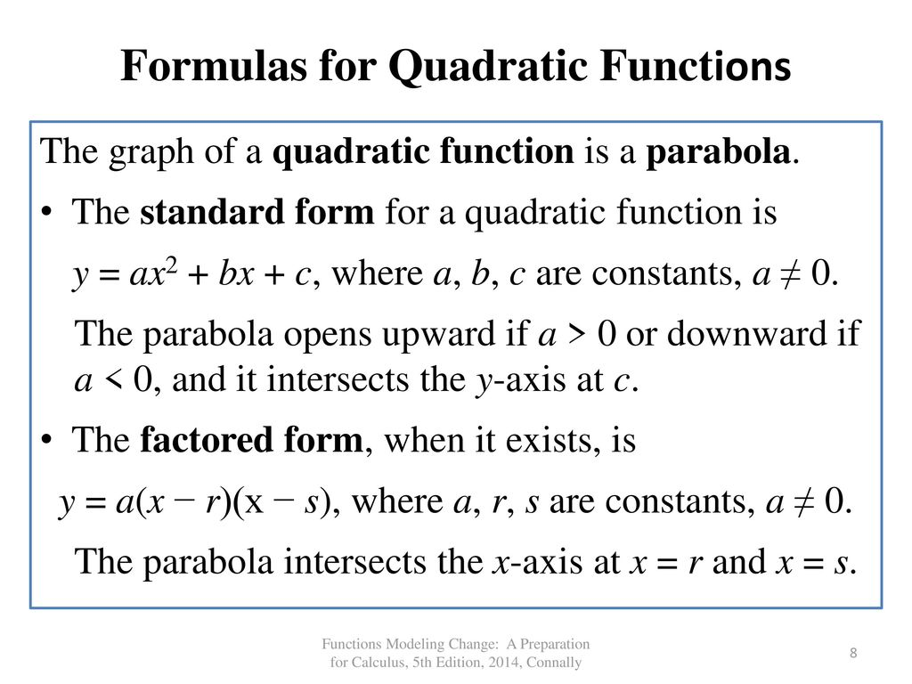 Chapter 3 quadratic functions ppt video online download formulas for quadratic functions falaconquin