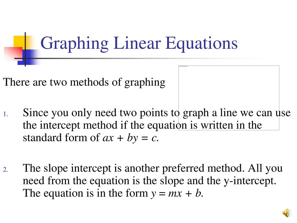 Graphing linear quadratic equations ppt download 2 graphing linear equations falaconquin