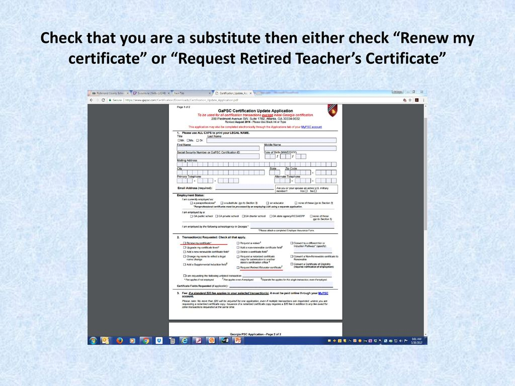 Retired teacher certification renewal steps ppt download 7 check xflitez Image collections