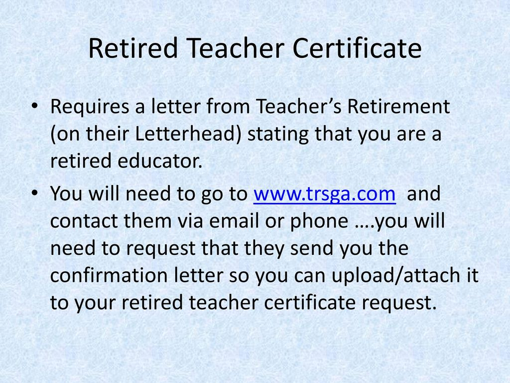 Retired teacher certification renewal steps ppt download retired teacher certificate xflitez Image collections