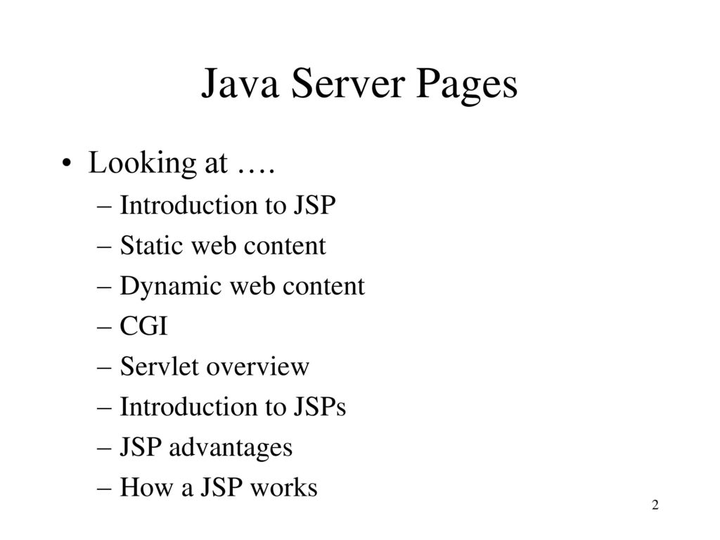 Java server pages can web pages be created specially for each user 2 java baditri Images