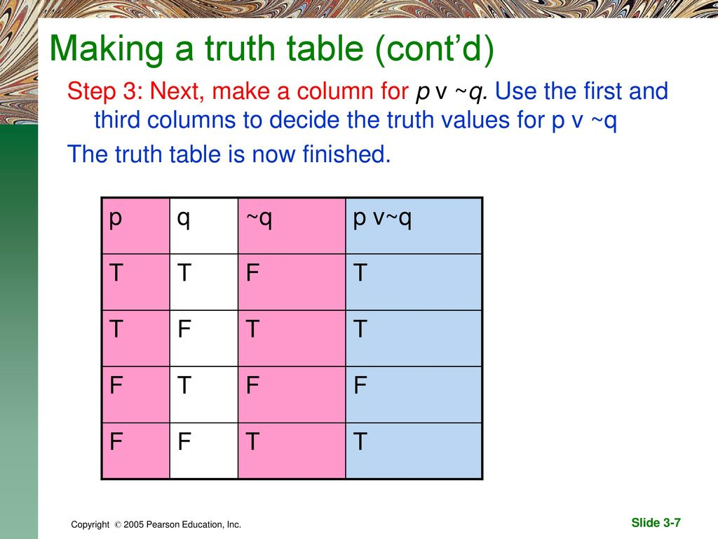 Truth tables for negation conjunction and disjunction ppt download making a truth table contd biocorpaavc