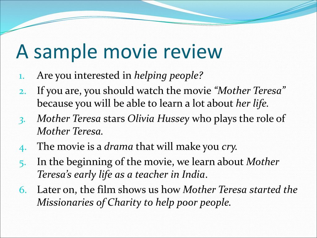 writing a movie review ppt video online  a sample movie review are you interested in helping people