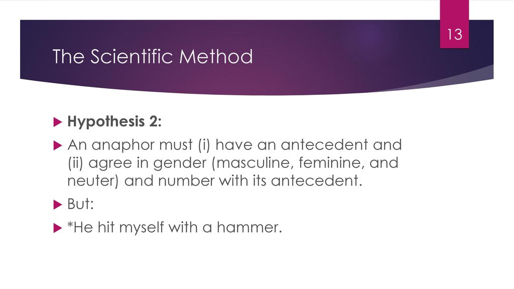 The Scientific Method Hypothesis 2: