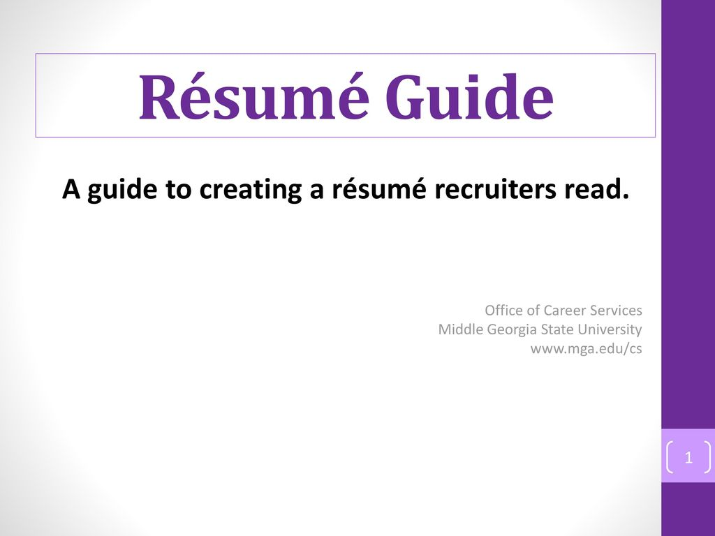 resume How Recruiters Read Resumes a guide to creating recruiters read ppt download read