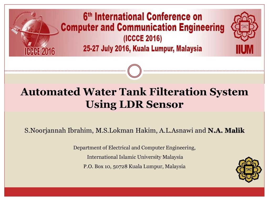 Automated Water Tank Filteration System Using LDR Sensor - ppt video ...