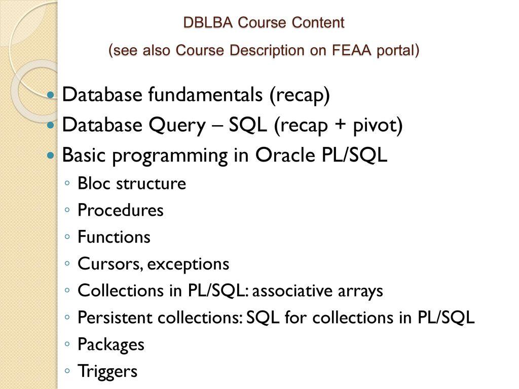 Database logic in business applications ppt download 9 dblba baditri Choice Image
