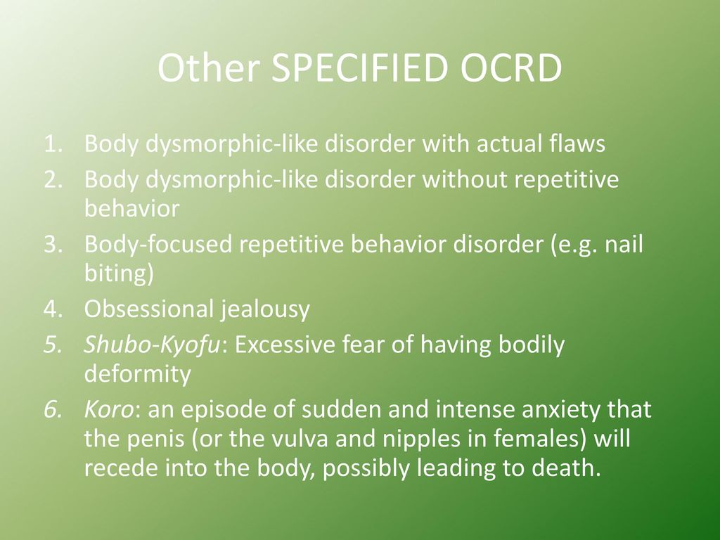 Obsessive-Compulsive and Related Disorders - ppt download