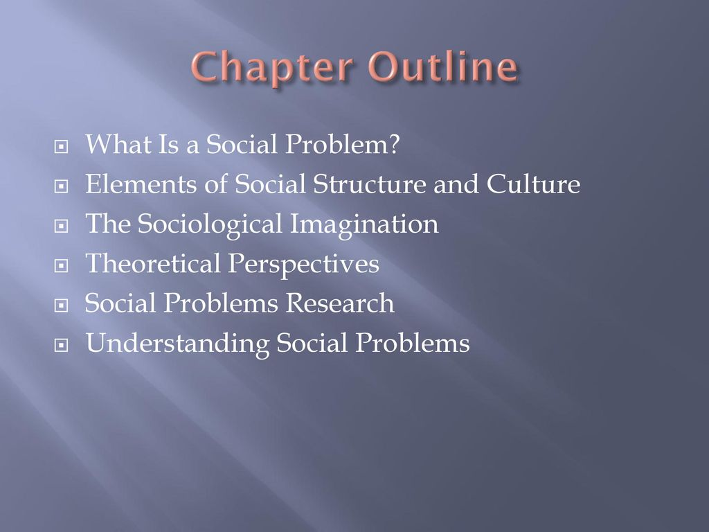 social problems ch 7 Making sense of social problems is designed to help students understand and criti- cally evaluate a wide range of contemporary social issues the cases are organized to highlight a series of key.