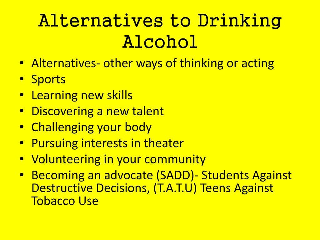 Alternatives to Drinking Alcohol
