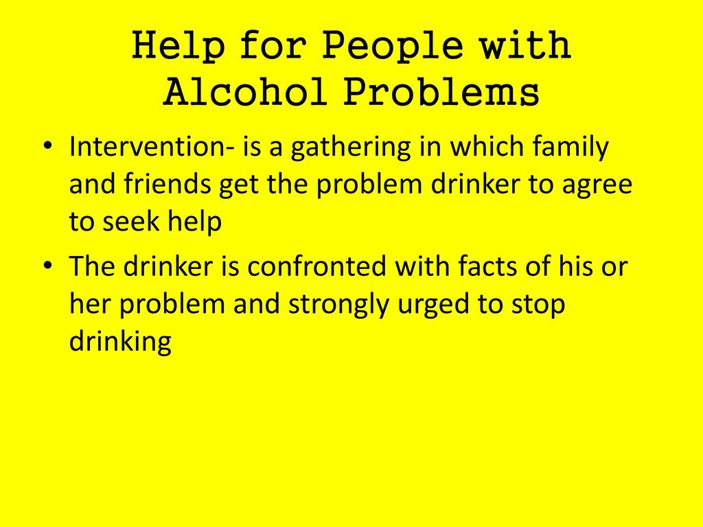 Help for People with Alcohol Problems