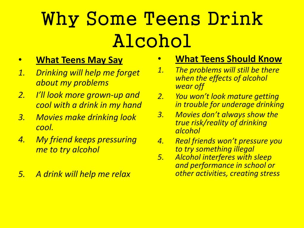 Why Some Teens Drink Alcohol