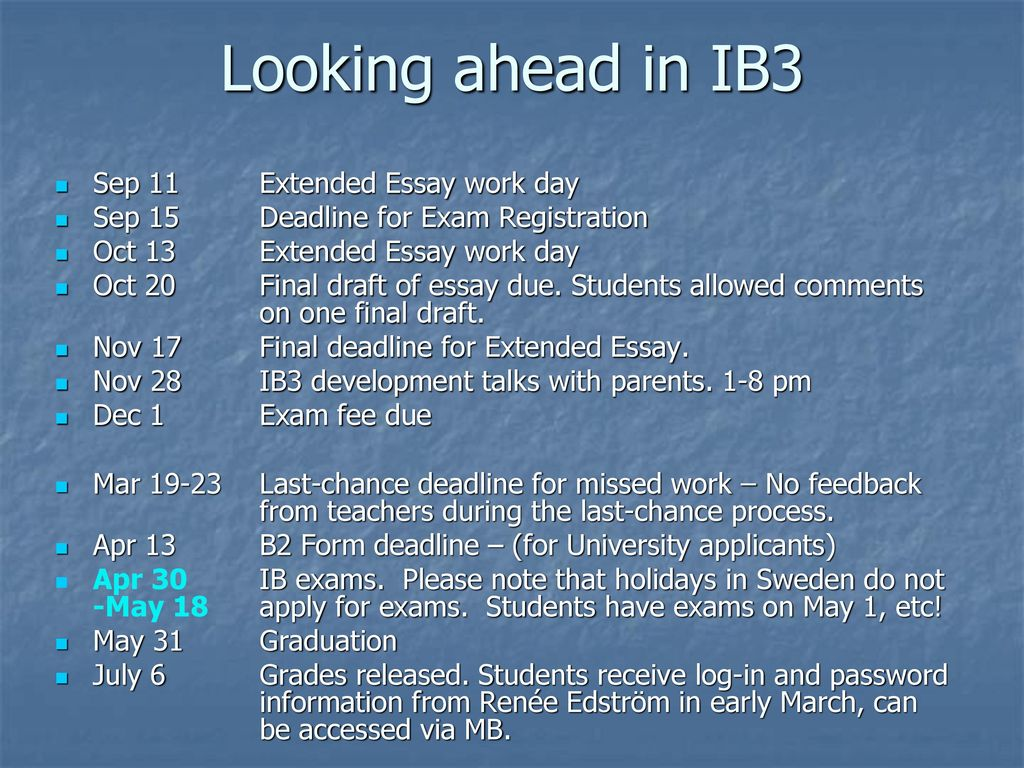 the ib diploma program ppt video online download looking ahead in ib3 sep 11 extended essay work day 12250646 history extended essay example 28