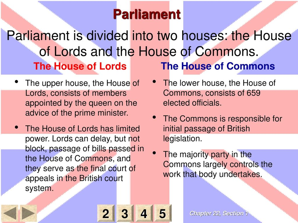 A comparison of the house of common and the house of lords in the british parliament