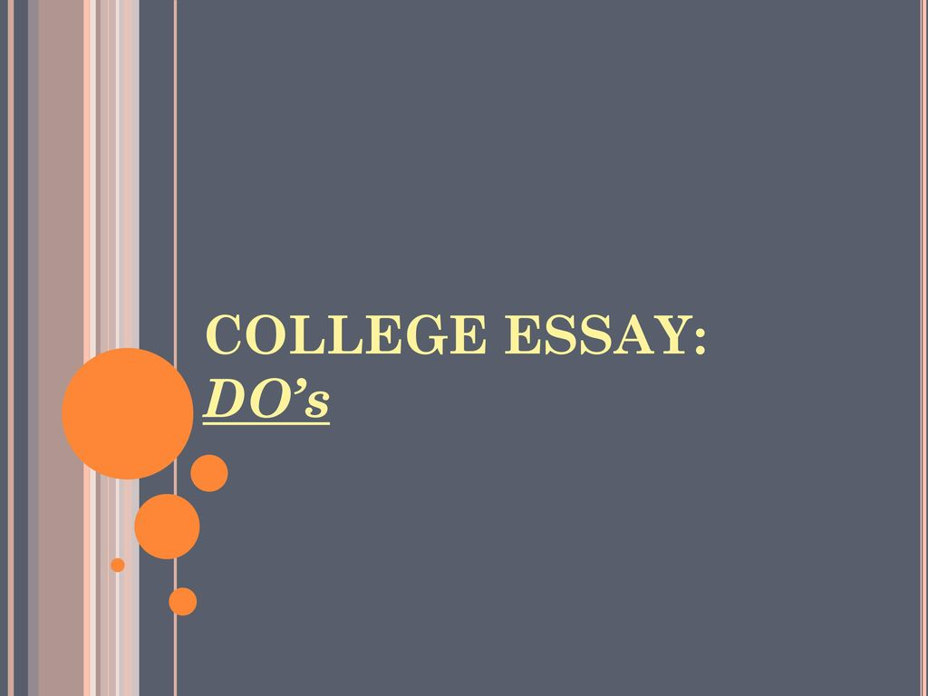 college essay presentation Formatting your essay when you submit your essay (assignment) for marking,  there is a set format you must follow there may be some small differences in.
