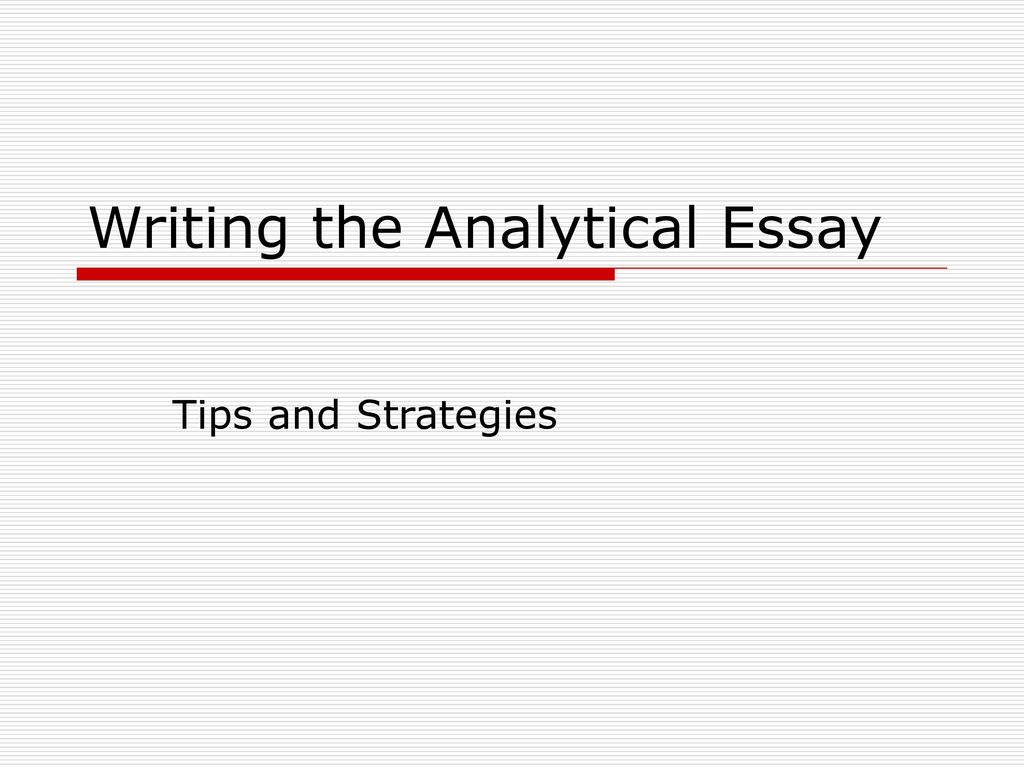 Mankind what is an analytical essay