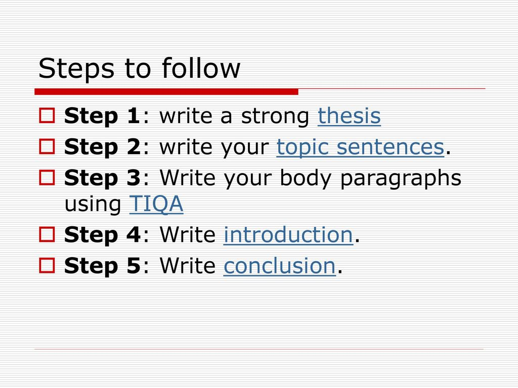 steps for writing an essay introduction An introduction to academic writing for english language learners, focusing on  essay development, grammatical correctness, and self-editing.