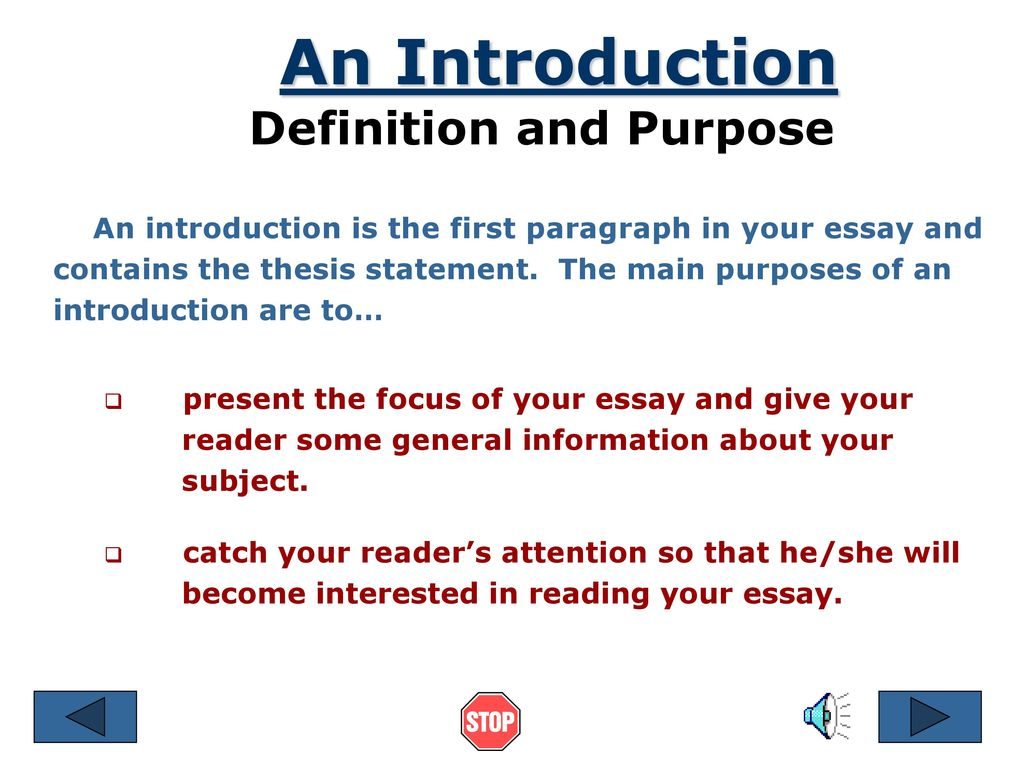 one purpose of writing a definition essay is to