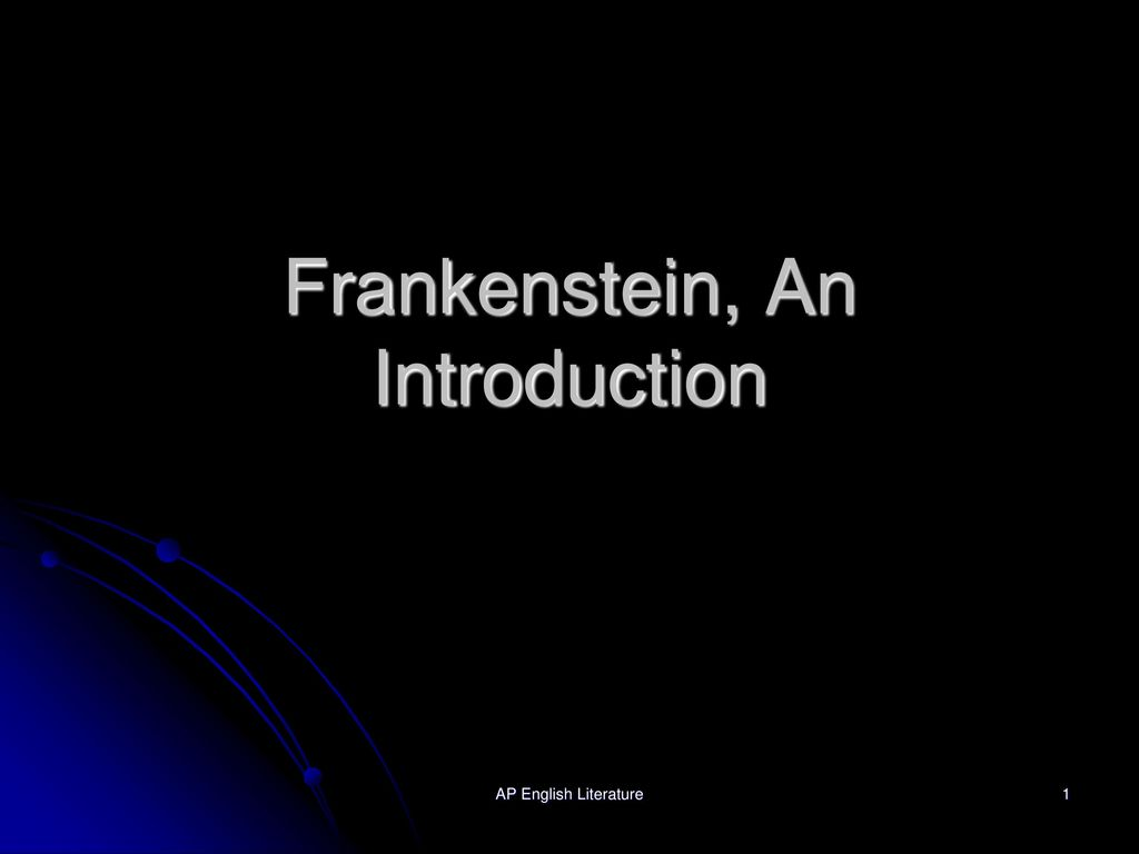frankenstein essay introduction