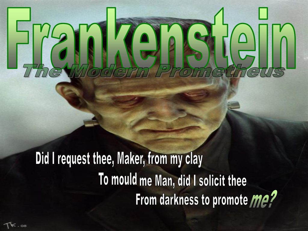 "frankenstein as the modern prometheus Is victor frankenstein the modern prometheus mary shelley's purpose in the subtitle of her book, frankenstein or, the modern prometheus is to compare victor frankenstein and prometheus, son of zeus by showing many similarities between the two, she has solid reasoning that dr frankenstein is, in many ways, the ""modern prometheus."