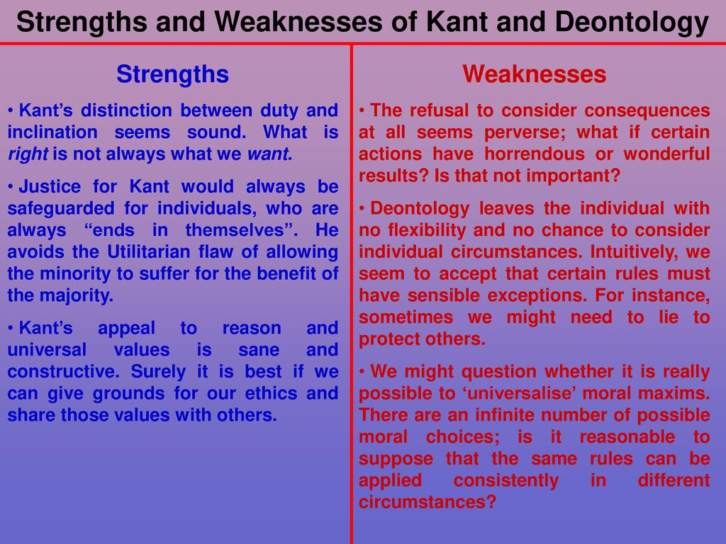 main differences between kant s deontological ethics and mill s utilitarian ethics Deontological ethics kant deontological theory of ethics it is similarities and differences between virtue and john stuart mill's utilitarian ethics.