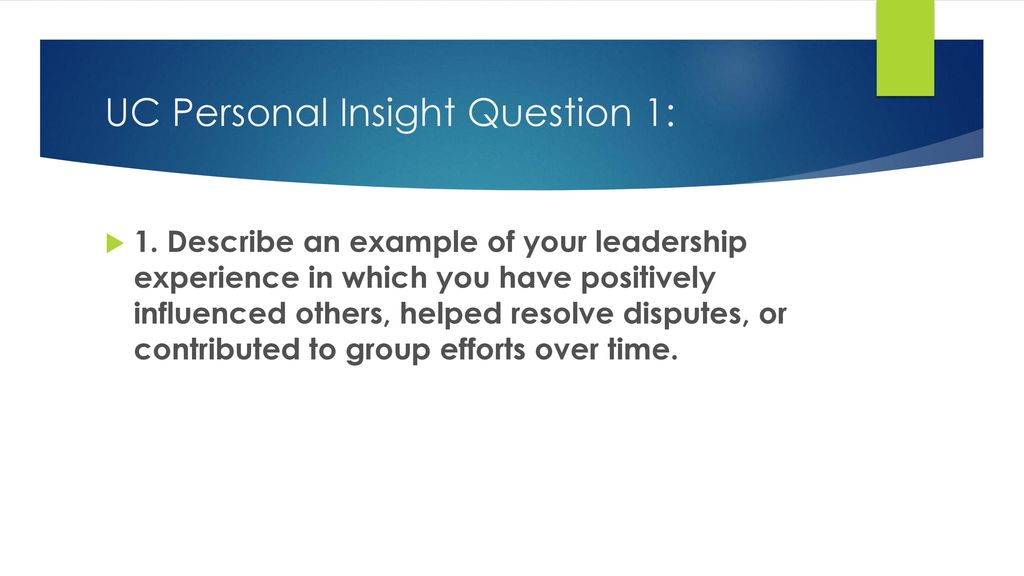 examples of leadership experience