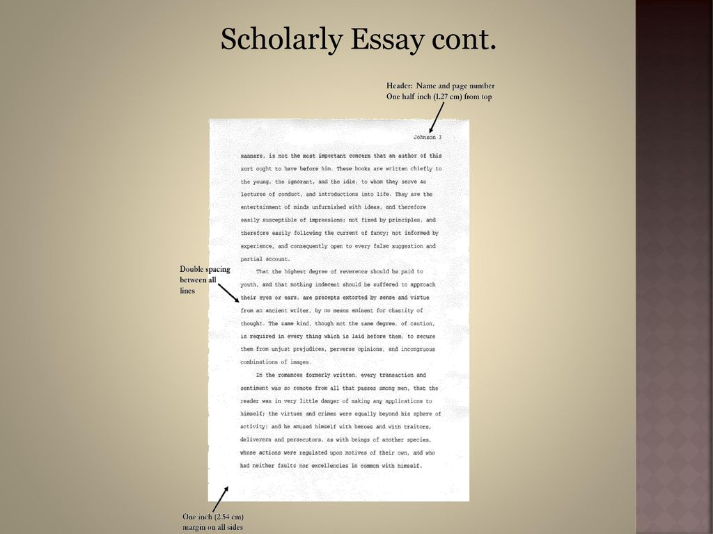 what makes an essay scholarly Components of a research paper  understanding scholarly journal articles, provides an introduction to the process of writing a journal article for submission.