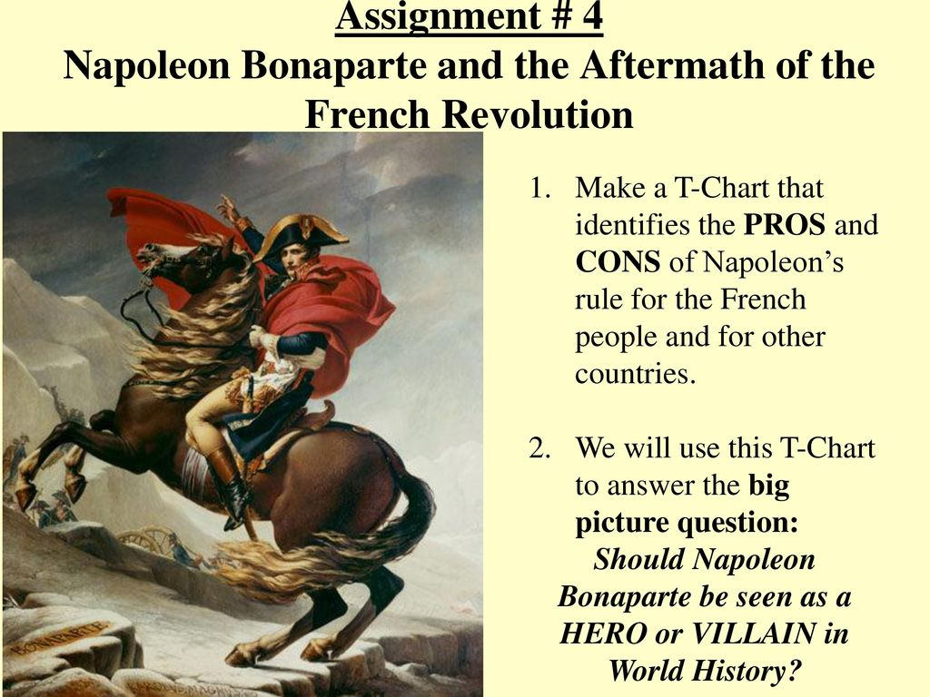 assignment 4 napoleon bonaparte and the aftermath of the french rh slideplayer com