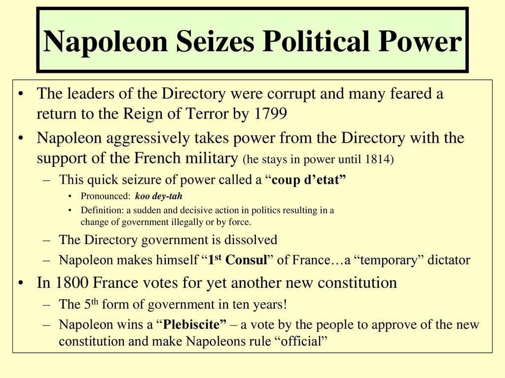 the rulership of the napoleon bonaparte The alter rebbe's histalkus: historical background: the russian czar made restrictions concerning where jews could live and what occupations they could have these rules became known as the pale of settlement.